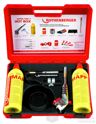 Rothenberger Super Fire 3 Hot Box kemény- és lágyforrasztó készlet